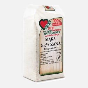 Mąka gryczana bezglutenowa 500g Bjos